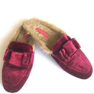 Catherine Malandrino Burgundy Velvet Shoes 7 1/2